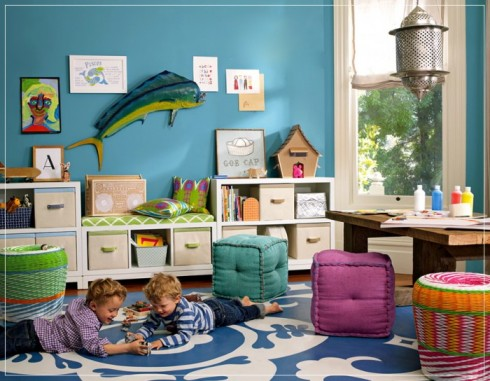 Aqua-maringe-theme-childs-playroom-silver-lantern-mahi-mahi-dolphin-fish-feature-700x544