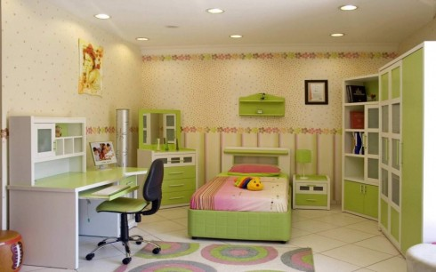 entrancing-extraordinary-modern-kids-room-ideas-with-single-bed-and-pink-pillow-and-green-night-table-with-lamp-cool-dressing-table-with-mirror-and-dr