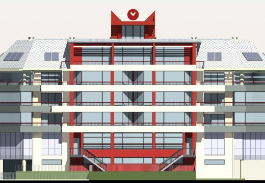 Сграда за обществено обслужване, магазини и трафопост
