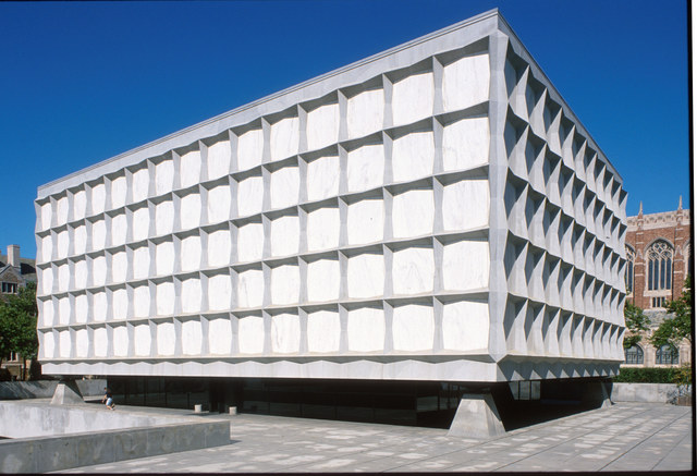 Exterior views of the Beinecke Rare Book & Manuscript Library.