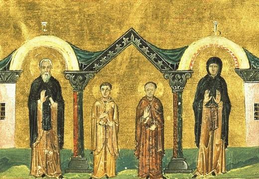 Преп. Ксенофонт, Мария и синовете му