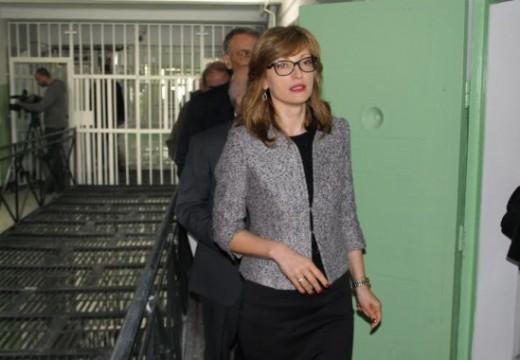 Екатерина Захариева откри затвора в Стара Загора след ремонт