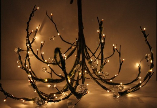 Още 33 идеи за дървени светилници