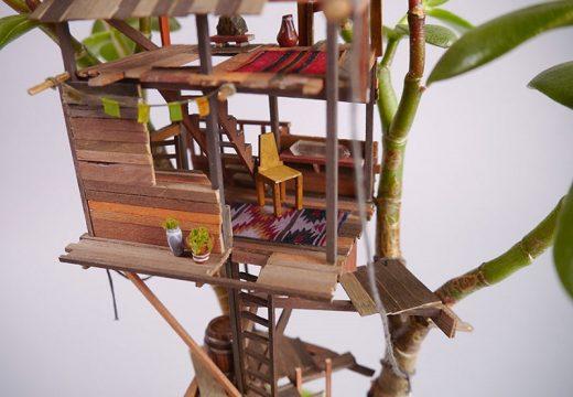Къщи за феите в клоните на стайните растения