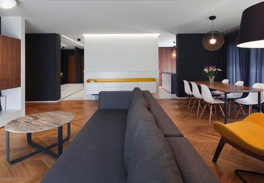 Интериорен проект за апартамент с три спални