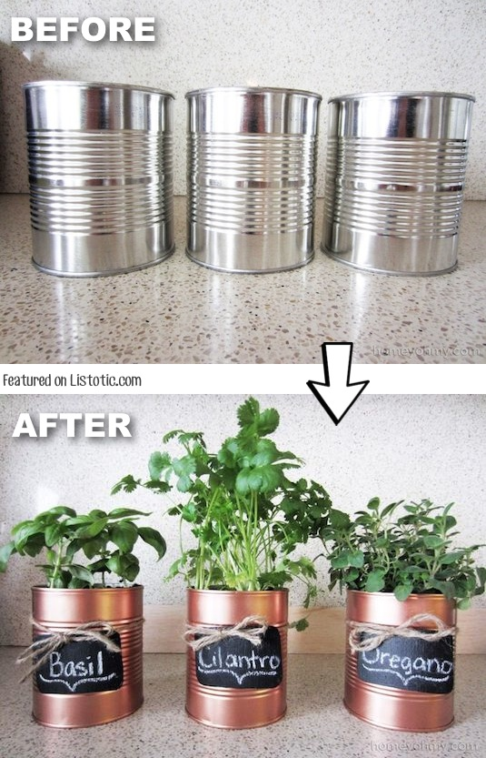 6.-Dont-throw-away-those-tins-cans-spray-paint-them-and-use-them-as-pots-vases-or-pencil-organizers-29-Cool-Spray-Paint-Ideas-That-Will-Save-You-A-Ton-Of-Money