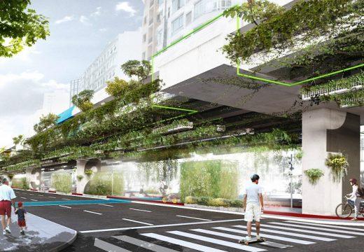 Висяща градина от път пречиства въздуха
