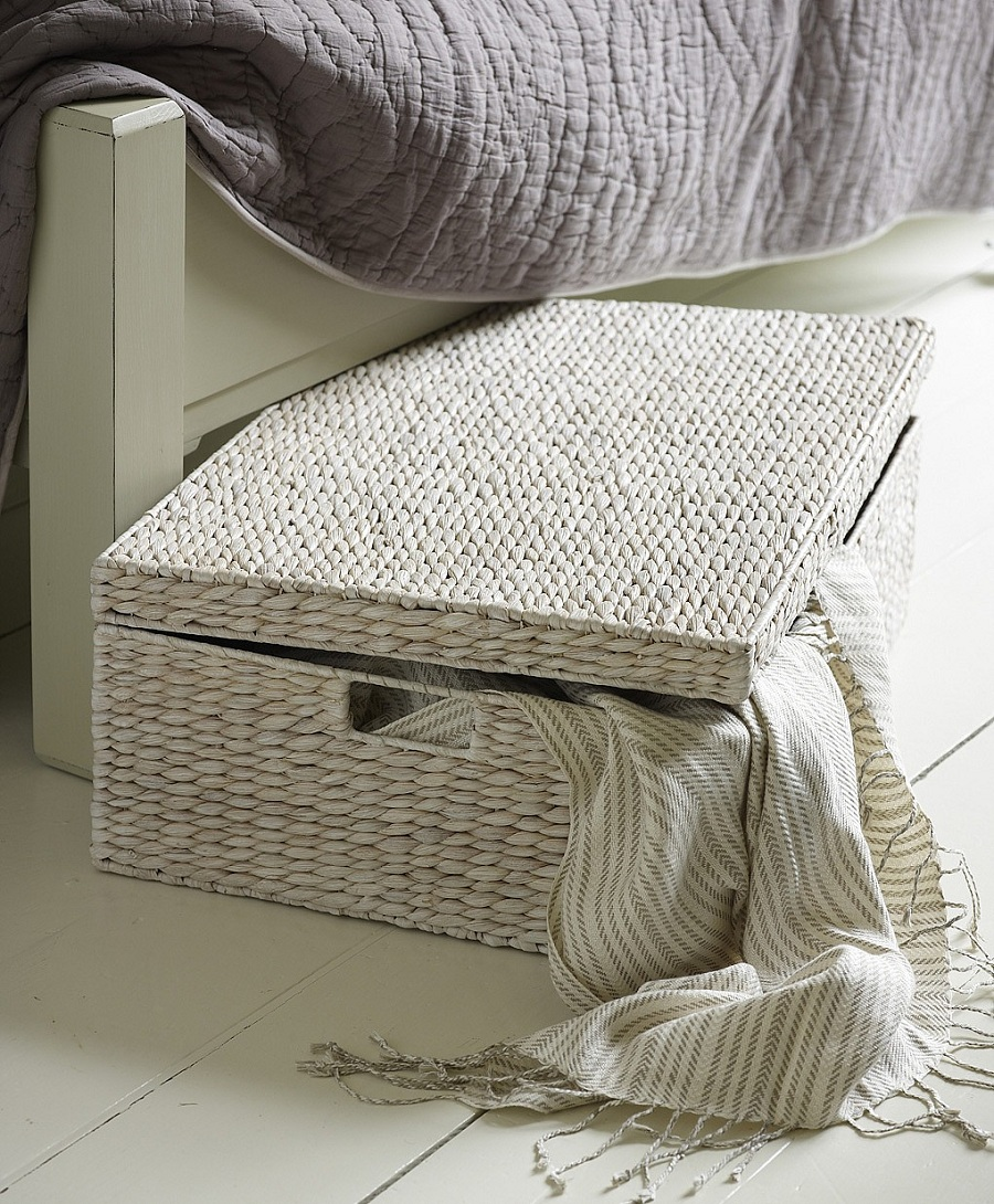 furniture-bedroom-fancy-white-wicker-basket-as-underbed-storage-with-rubbermaid-storage-tote-plus-dvd-storage-boxes-appealing-neat-under-bed-storage-designs