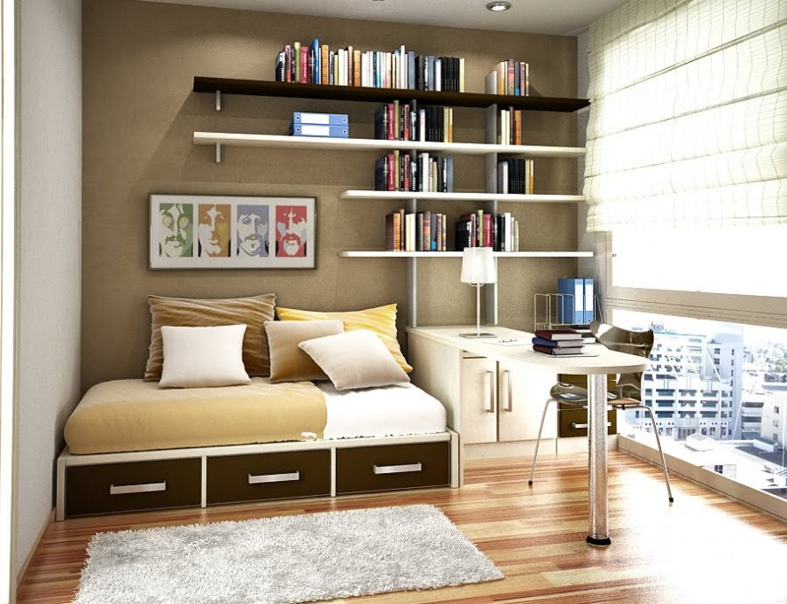 small-bedroom-wall-book-shelving-small-room-storage-ideas-bedroom-