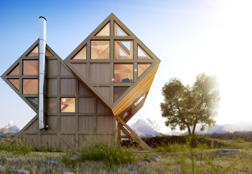 Уникална дървена хижа построиха в Италия