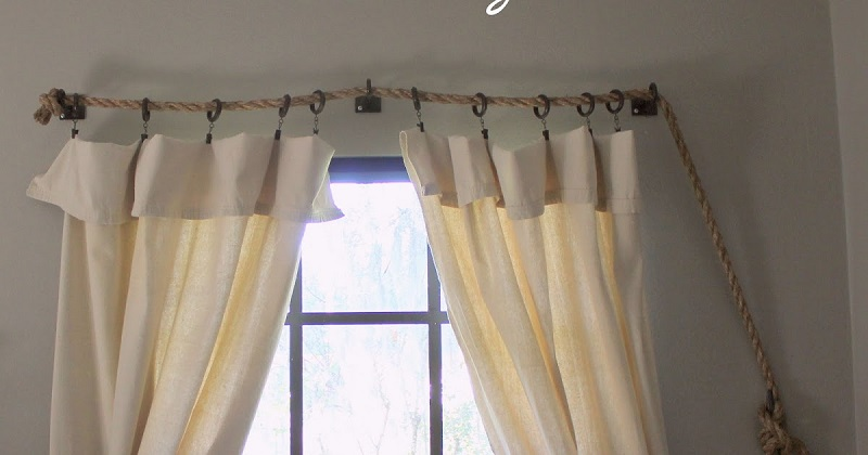 Curtain and Rope rod 053a