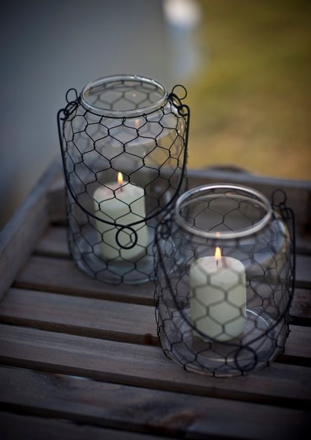 Chicken-Wire-Craft-Ideas-Wire-Mason-Jar-Lantern