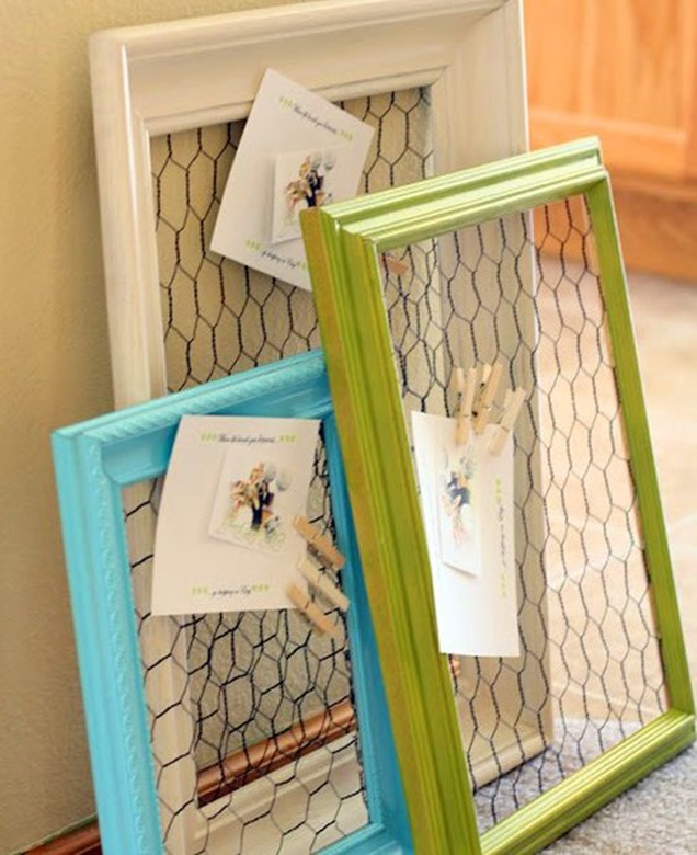 Chicken-Wire-Craft-Ideas-Wire-Picture-Frame-Organzier