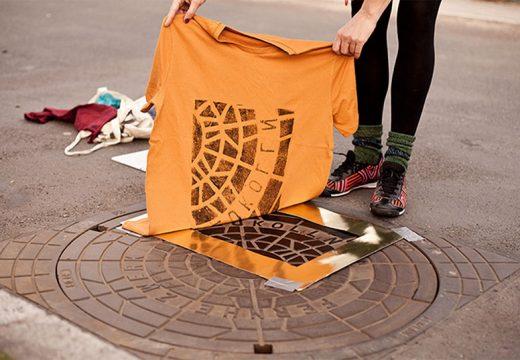 Направете си тениска от улична шахта