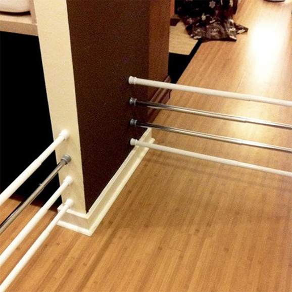 Tension-Rod-Uses-to-Keep-Home-Organized-Baby-or-Pet-Safety-Gate