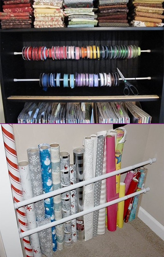 Tension-Rod-Uses-to-Keep-Home-Organized-Craft-Supply-Organizer