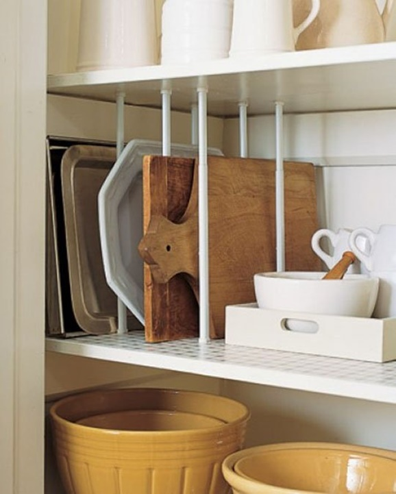 Tension-Rod-Uses-to-Keep-Home-Organized-Kitchen-Cabinet-Shelf-Segment
