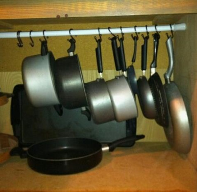 Tension-Rod-Uses-to-Keep-Home-Organized-Tension-Rod-Pot-Organizer
