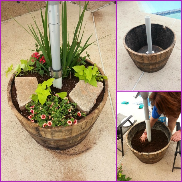 fabartdiy-DIY-Wood-Barrel-Umbrella-Planter-Stand (1)