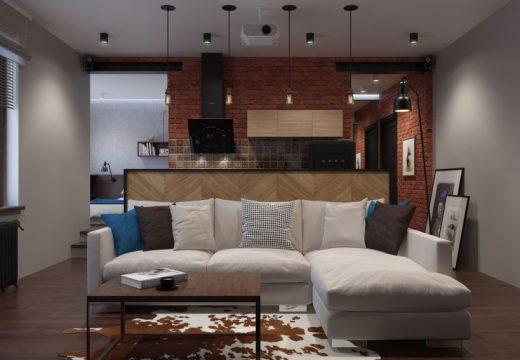 Ергенска квартира в Русия във винтидж стил