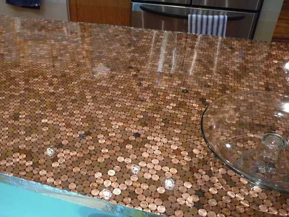 penny-tiles-kitchen-countertop-table-top-3