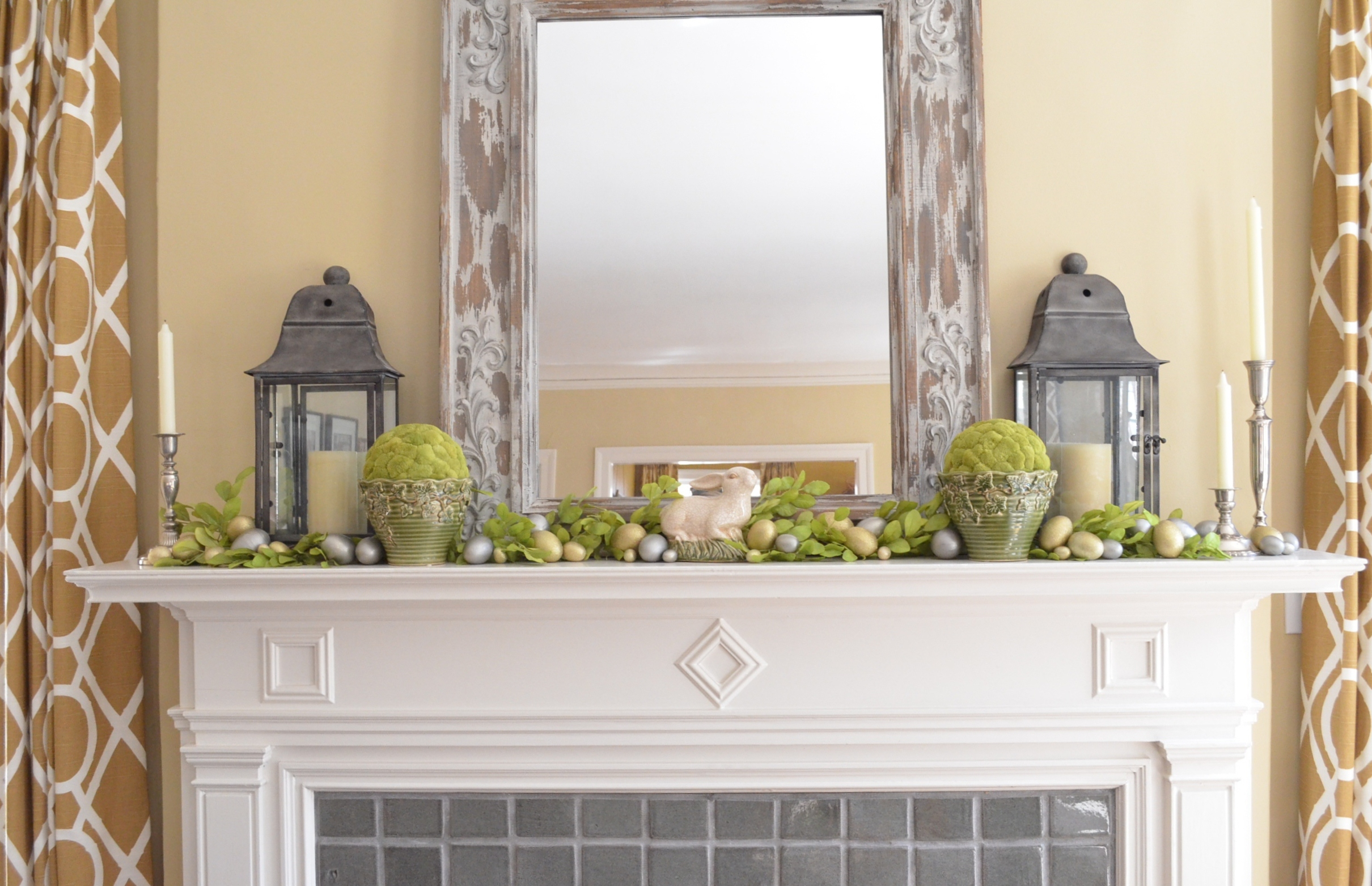 mantel-decorating-ideas-for-spring