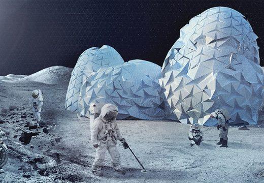 Как биха изглеждали сградите на Луната