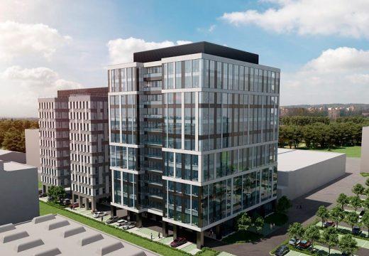 Грубото строителство на голяма офисна сграда в София завърши