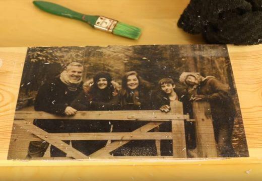 Как да отпечатаме снимка върху дърво (видео)
