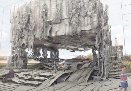 Сграда построена изцяло от плат? (видео)