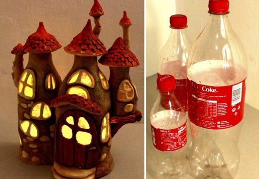 Как да си направим приказна лампа от стари шишета (видео)