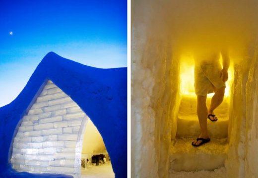 Кой би предположил! Сауна в леден хотел!