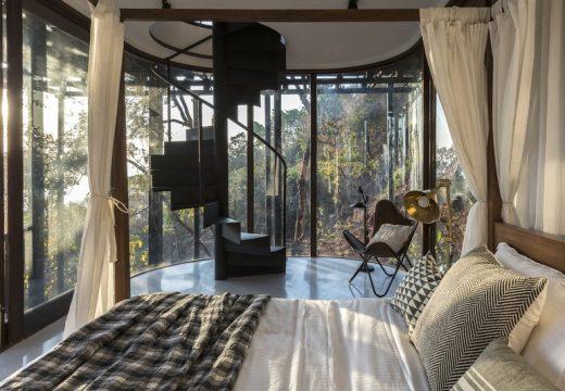 Къщичка в клоните на дърво е идеална за медитация