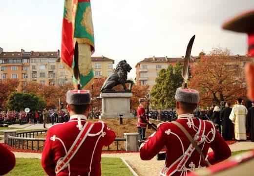 Церемония отбеляза връщането на лъва пред НДК