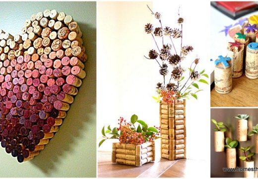 50+ идеи с коркови тапи за дома и градината