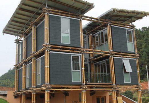 Бамбукова къща е вдъхновена от Фън Шуй