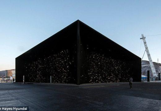 Най-черната сграда в света се появи на Олимпиадата