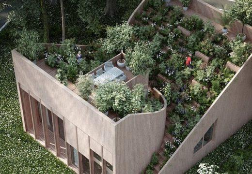 Къща с градина на покрива изхранва своите собственици