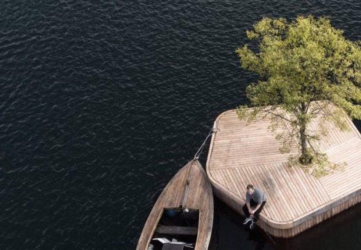 Ръчно изработени плаващи острови завладяват Копенхаген