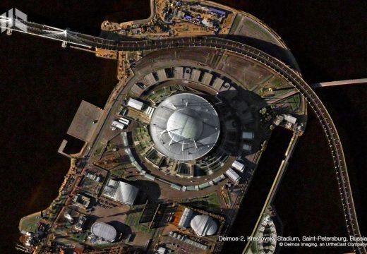 Стадионите в Русия погледнати от космоса