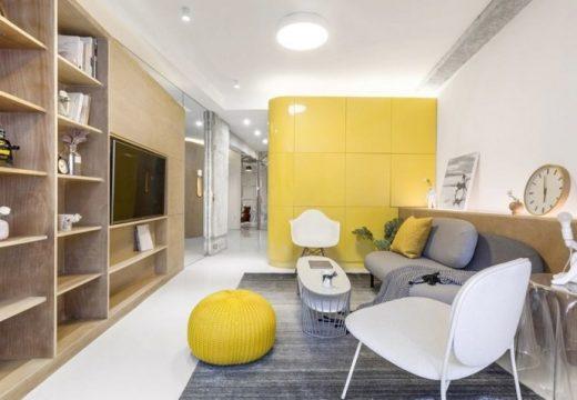 Хитър дизайн прави невъзможното за тесен апартамент