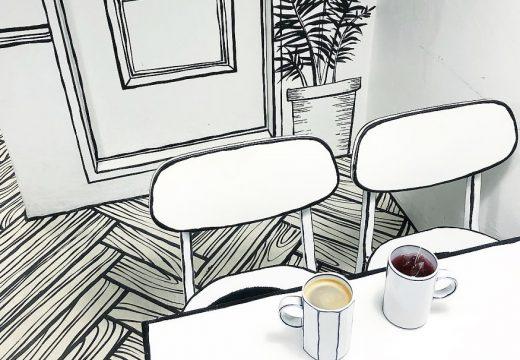 Кафене вкарва посетителите си в света на карикатурите