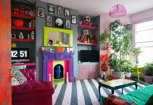 Най-шареният апартамент в Лондон