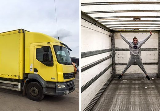 Да преместиш дома си в камион