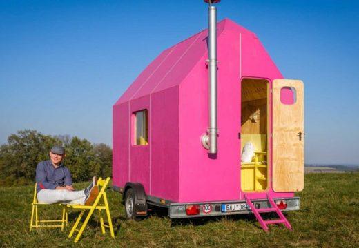 Малка розова караванка за жени с вкус
