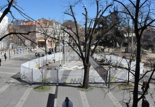 Започна ремонт на пространството около Часовника в Бургас