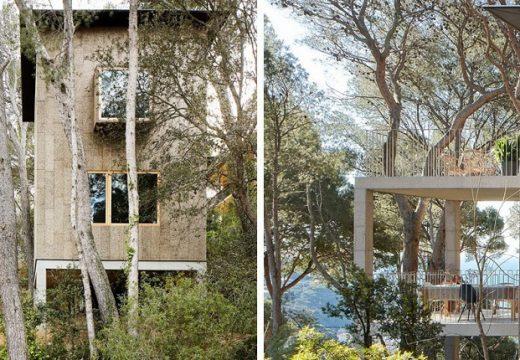 Красиви горски къщи от корк