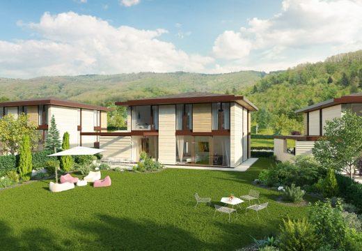 Строят жилищен комплекс от къщи край София