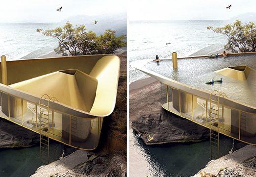 Архитекти проектираха къща с покрив, който е басейн