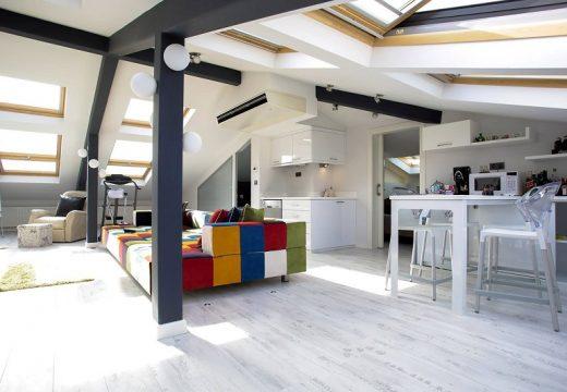 Дизайн на мултифункционално таванско помещение в Истанбул